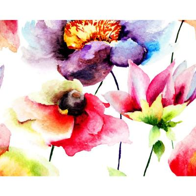 Watercolour Flora Wall Mural