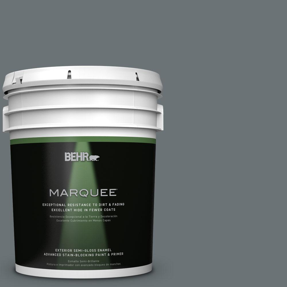 BEHR MARQUEE 5-gal. #QE-61 Rich Pewter Semi-Gloss Enamel Exterior Paint