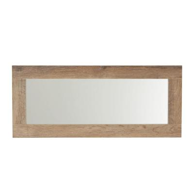 Small Rectangle Gray Modern Mirror (12.6 in. H x 29.5 in. W)