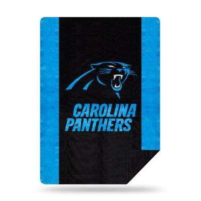 Panthers Multi Color Acrylic Sliver Knit Throw