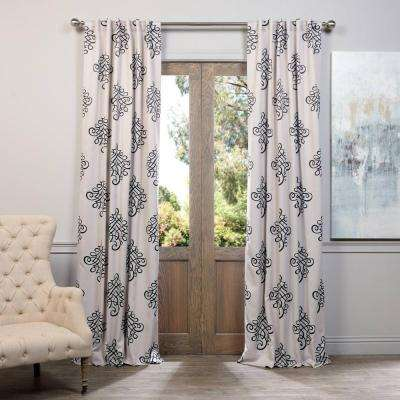 Semi-Opaque Tugra Blackout Curtain - 50 in. W x 120 in. L (Panel)
