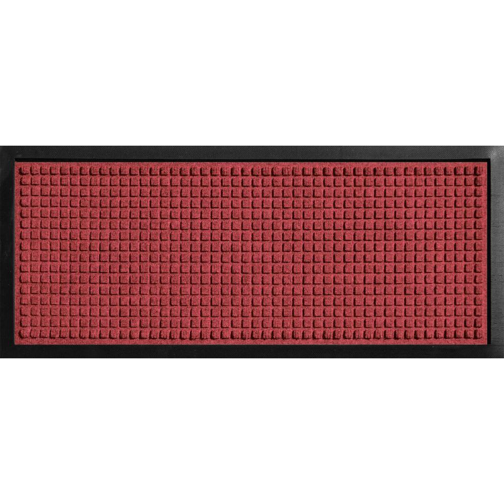 Aqua Shield Boot Tray Squares Red/Black 15 in. x 36 in.