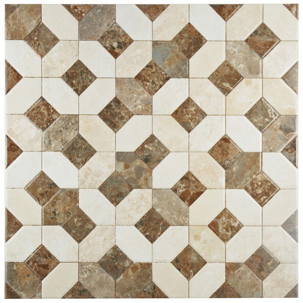 Merola tile kings manhattan 17 34 in x 17 34 in ceramic floor caprice marmol beige 17 34 in x 17 34 dailygadgetfo Image collections