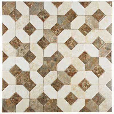 Caprice Marmol Beige 17-3/4 in. x 17-3/4 in. Ceramic Floor and Wall Tile (15.75 sq. ft. / case)