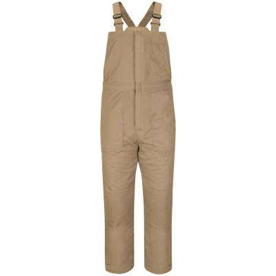 EXCEL FR ComforTouch Men's Small Khaki Deluxe Insulated Bib Overall