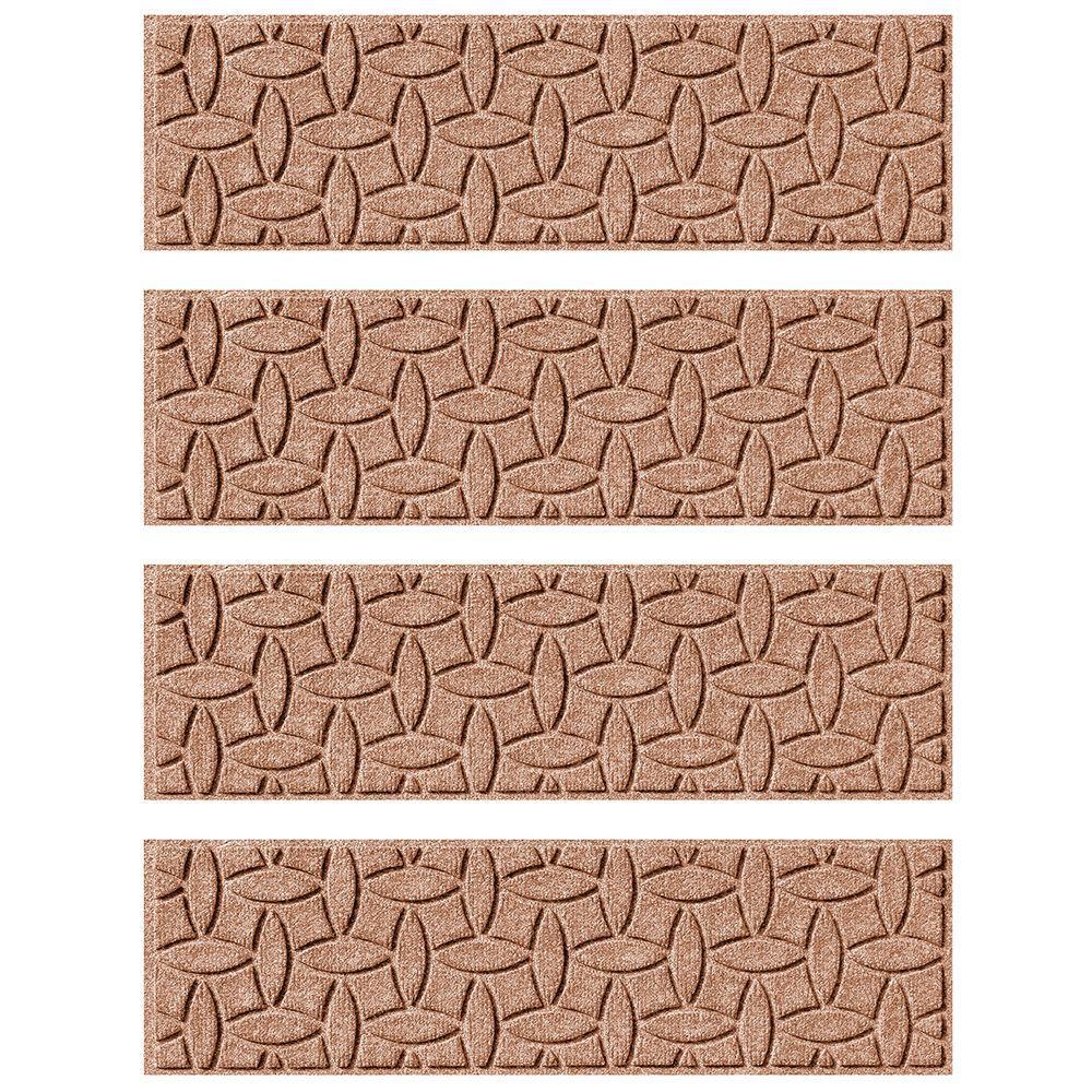Medium Brown 8.5 in. x 30 in. Ellipse Stair Tread Cover (Set of 4)