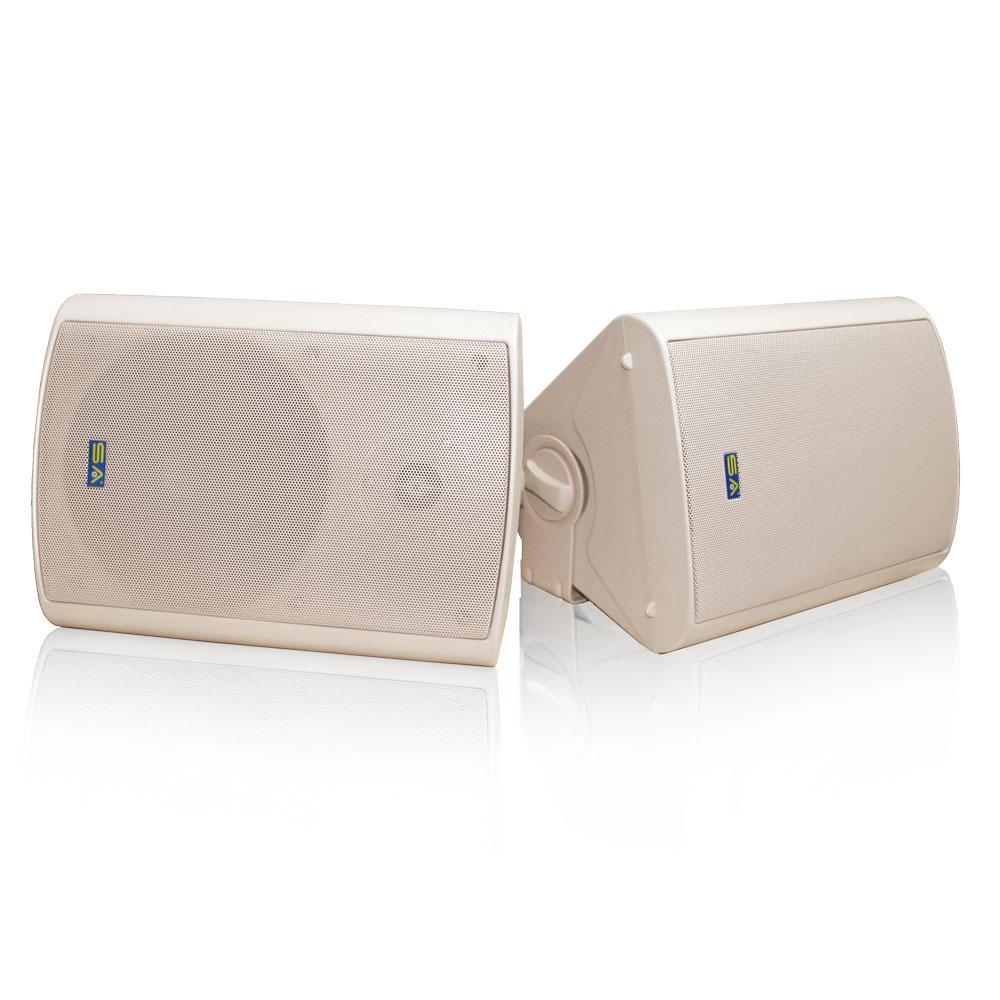 Bluetooth 6.50 in. Indoor/Outdoor Weatherproof Patio Speakers Wireless Outdoor Speakers, Beige