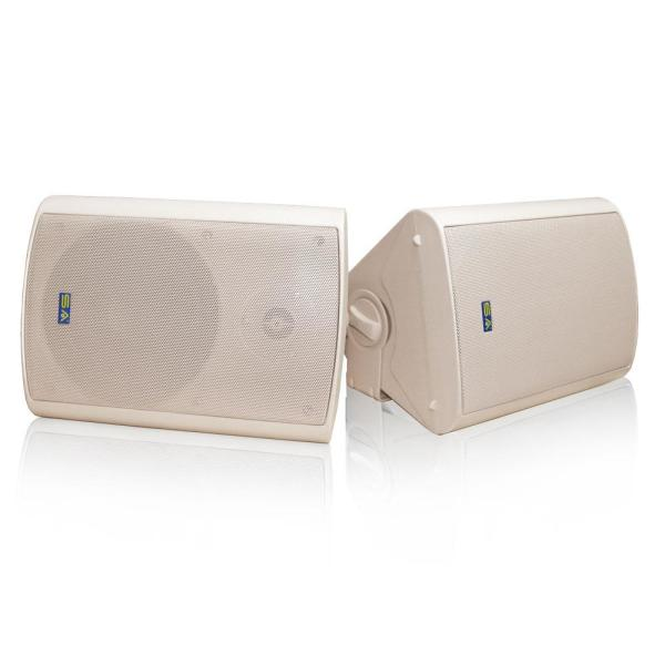 Bluetooth 6.50 in. Indoor/Outdoor Weatherproof Patio Speakers Wireless Outdoor Speakers, Beige