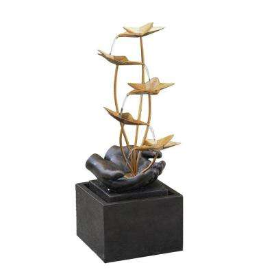 Multi-Tier Metal Flowers Fountain