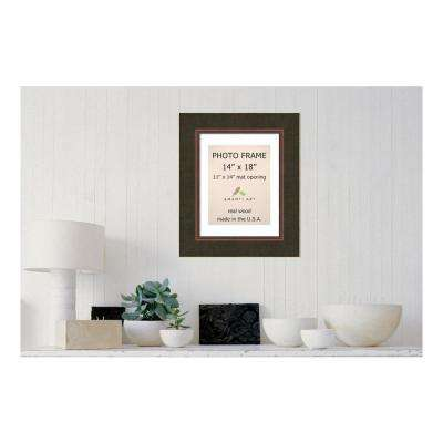 Milano 11 in. x 14 in. White Matted Bronze Picture Frame