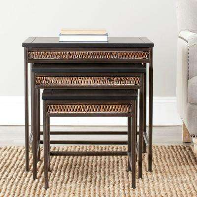Reed Dark Walnut Stacking End Table