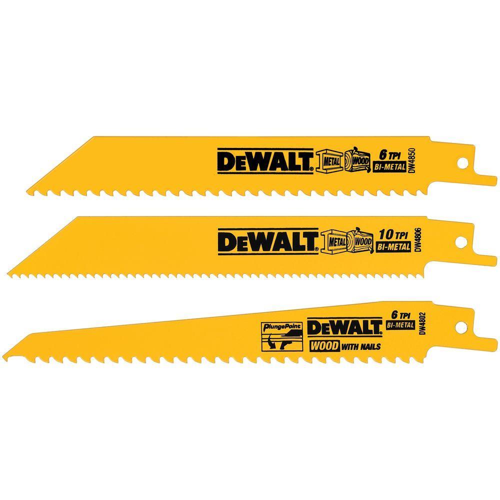 Dewalt Woodcutting Reciprocating Saw Blade Set (3-Piece) by DEWALT