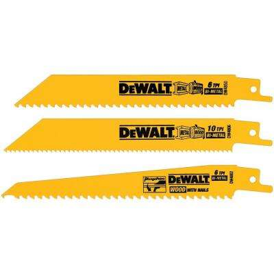 Woodcutting Reciprocating Saw Blade Set (3-Piece)
