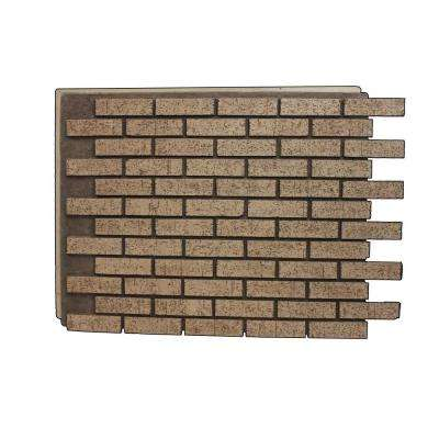Brown Stone 32-7/8 in. x 46 in. x 3/4 in. Faux New Brick Stone Panel