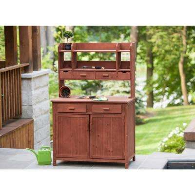 42 in. x 24 in. x 67 in. Potting Bench with Storage