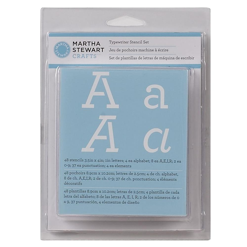 Martha Stewart Crafts 48-Piece Typewriter Alphabet Stencil Set