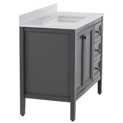 Darcy 43 in. W x 22 in. D Bath Vanity in Shale Gray with Stone effect Vanity Top in Pulsar with White Sink