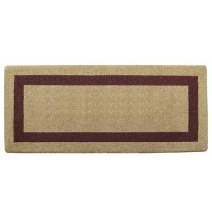 Nedia Home Single Picture Frame Brown 24 inch x 57 inch Heavy Duty Coir Plain Door Mat by Nedia Home