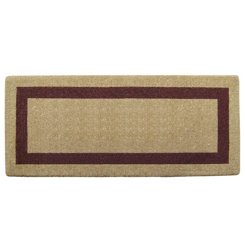 Single Picture Frame Brown 24 in. x 57 in. Heavy Duty Coir Plain Door Mat