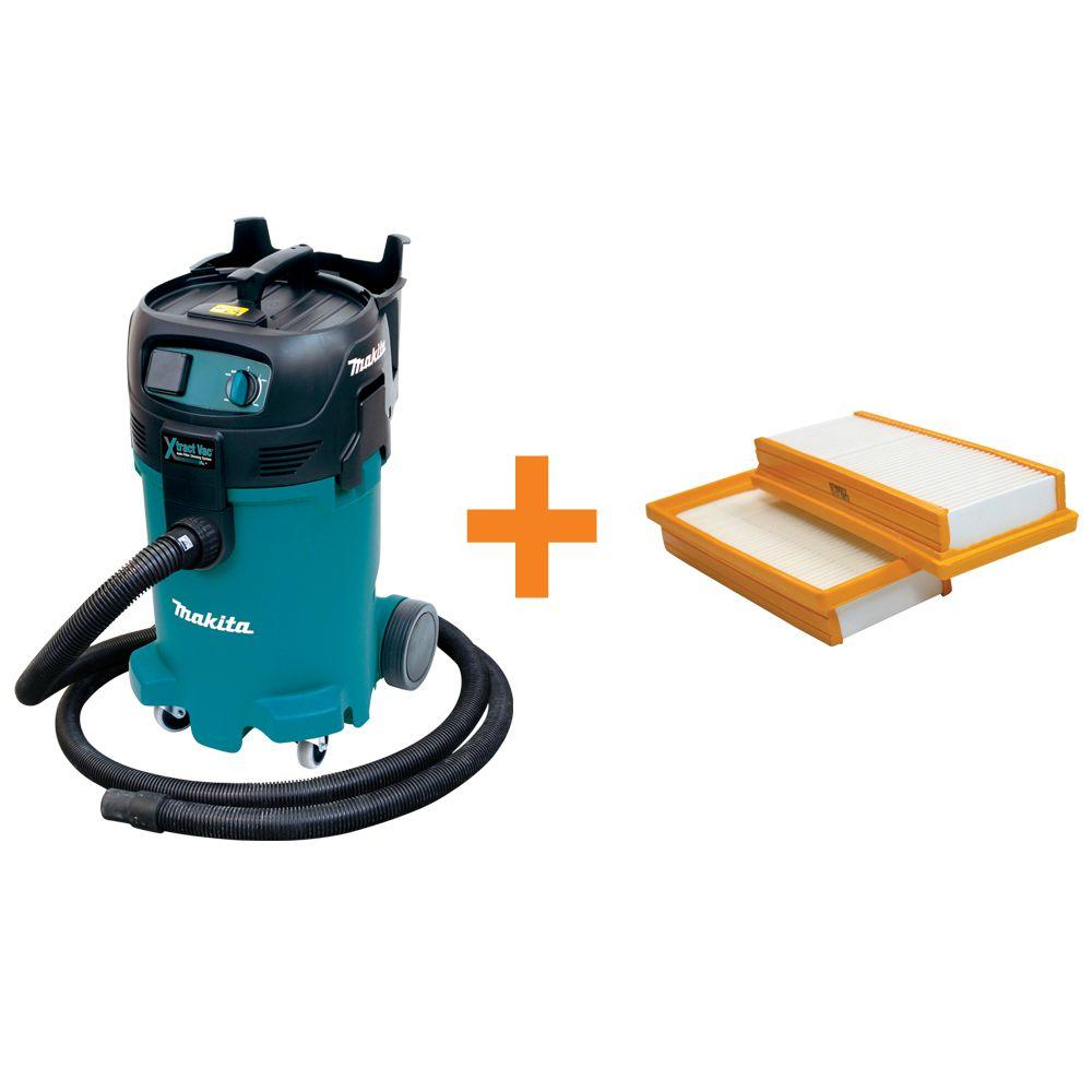 Makita 12 Gal Xtract Wet Dry Vacuum With Free Hepa Filter