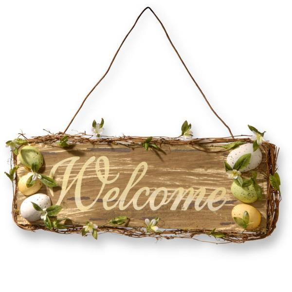 National Tree Company 21 In Home Decor Welcome Sign