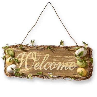 "21 in. Home Decor ""Welcome"" Sign"