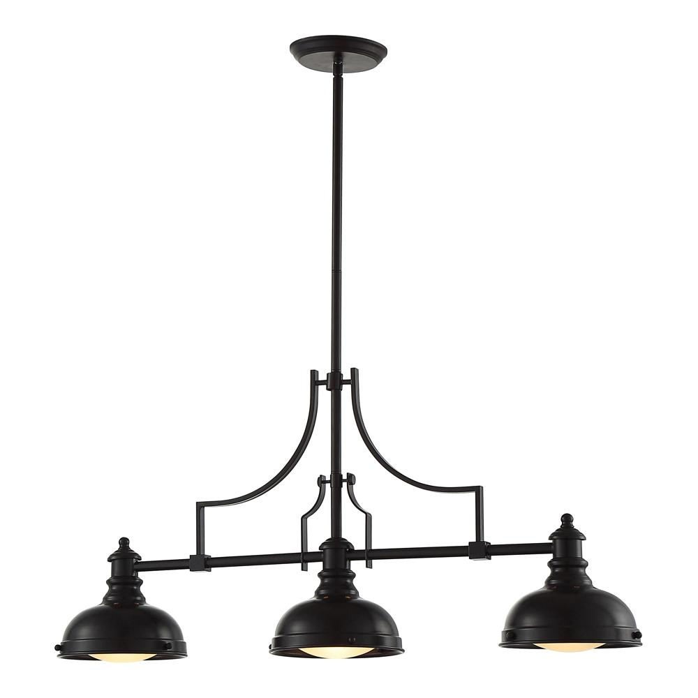 OVE Decors Bergin III 3-Light Oiled Bronze Pendant