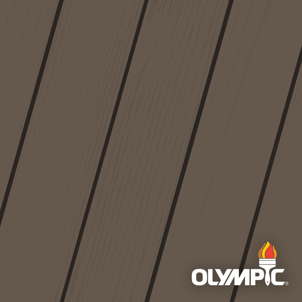 Olympic Elite 1 gal. Wenge Solid Advanced Exterior Stain and Sealant in One