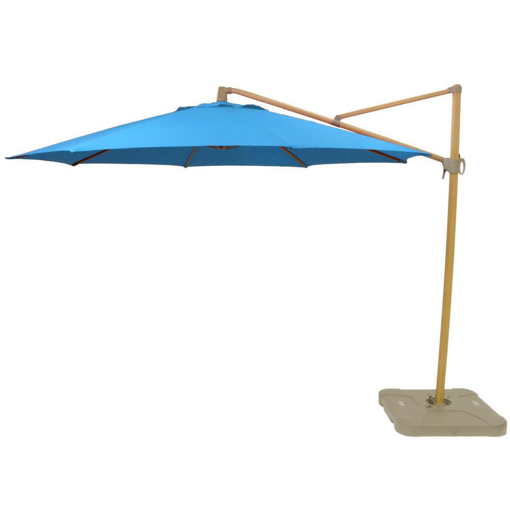 Hampton Bay 11 Ft Aluminum Cantilever Tilt Patio Umbrella In