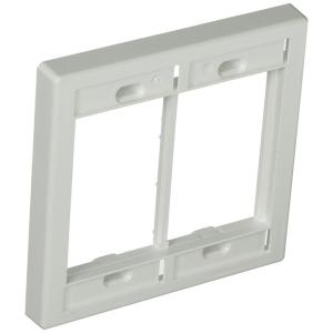 2-Gang Multimedia Outlet System (MOS) Wallplate, White