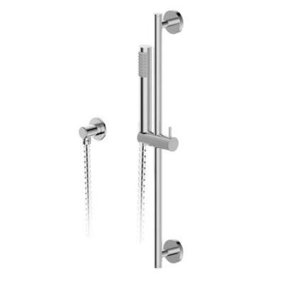 Moncalieri 1-Spray Cylindrical Wall Bar Shower Kit with Hand Shower in Polished Chrome