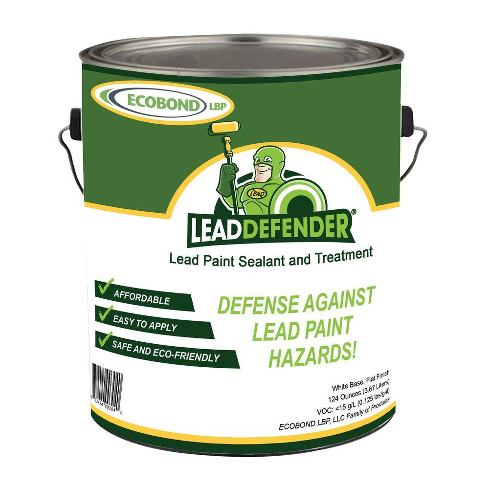 1 gal. Lead Defender Off White Flat Interior/Exterior Paint and Primer