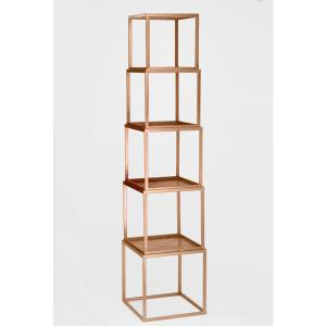 Rose Gold Stackable Etagere Open Bookcase by
