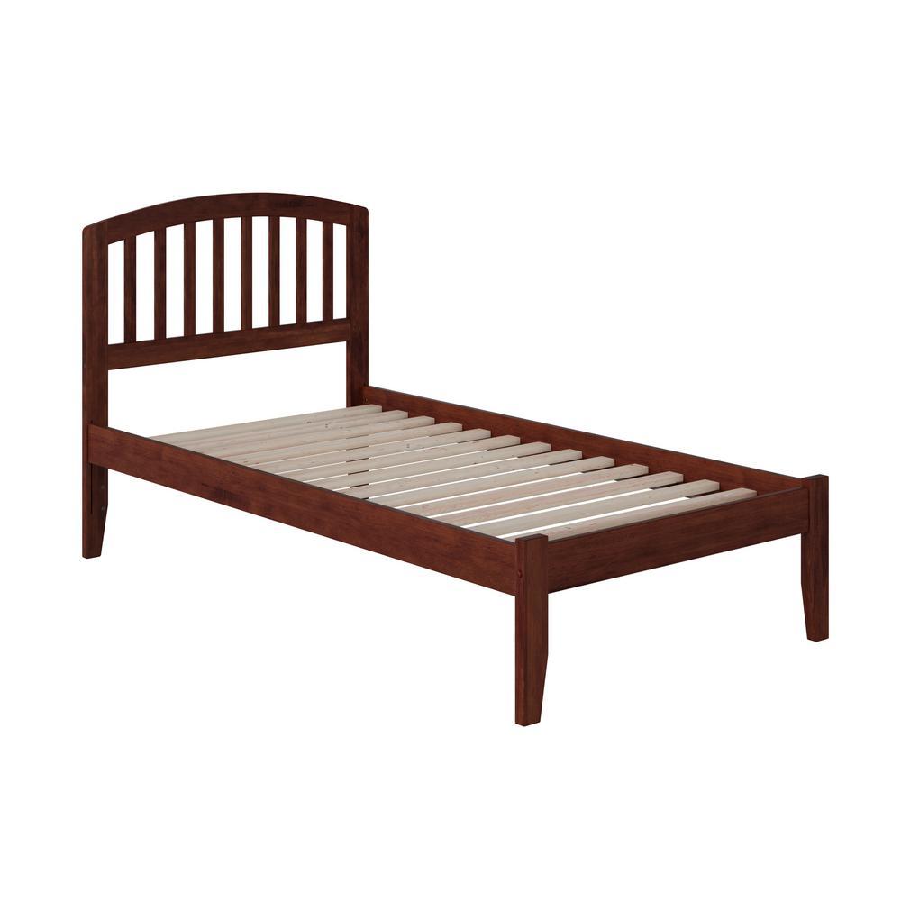 Richmond Walnut Twin XL Platform Bed with Open Foot Board