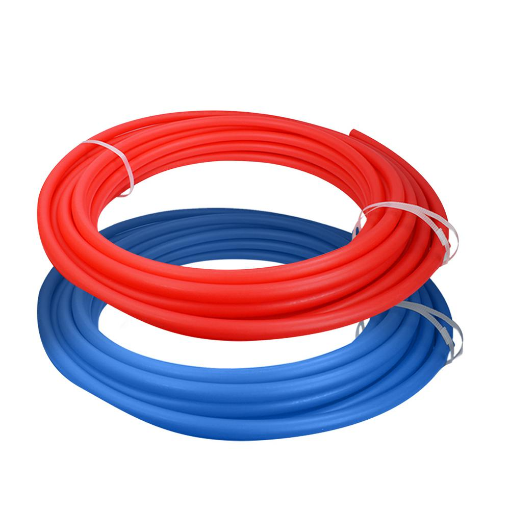 The Plumber's Choice 1/2 in. x 100 ft. PEX Tubing Potable Water Pipe Combo - 1 Red, 1 Blue