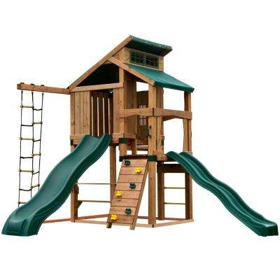 Hideaway Clubhouse Plus Playset with Cool Wave and Alpine Slides, Add 4 in. x 4 in.