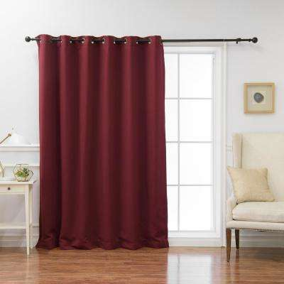 Wide Basic Blackout Curtain in Burgundy - 80 in. W x 108 in. L