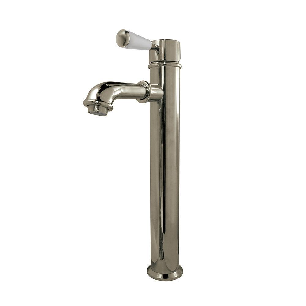 Paris Single Hole Single-Handle Vessel Bathroom Faucet in Brushed Nickel