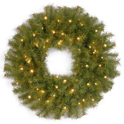 Norwood Fir Artificial Wreath with Battery Operated Warm White LED Lights - Battery Operated - Christmas Wreaths - Christmas Greenery - The Home
