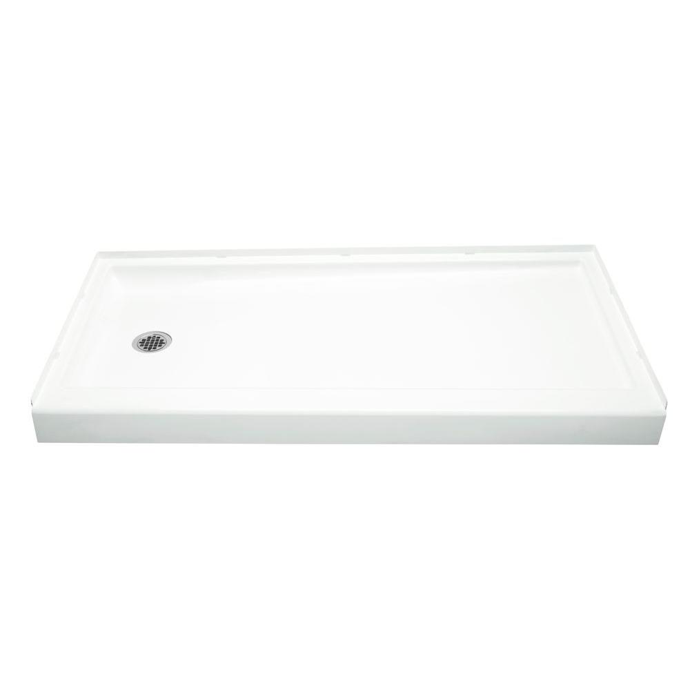 Sterling ensemble 30 in x 60 in single threshold shower base in biscuit 72171610 96 the home - 30 x 60 shower pan ...