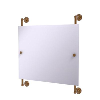 Dottingham Landscape Rectangular Frameless Rail Mounted Mirror in Brushed Bronze