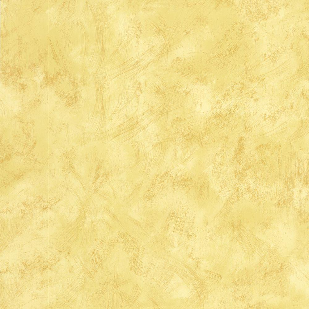 The Wallpaper Company 56 sq. ft. Yellow Faux Finish Wallpaper-DISCONTINUED