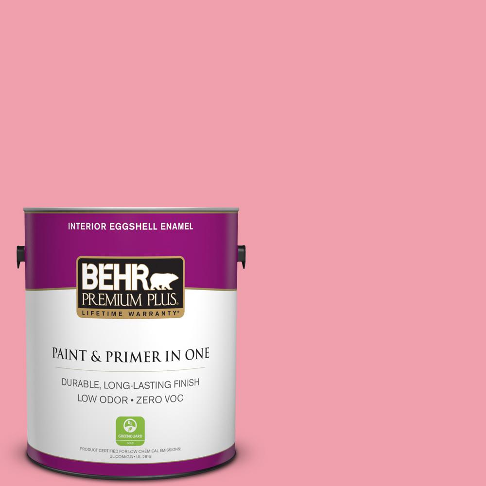 BEHR Premium Plus 1-gal. #120B-5 Candy Coated Zero VOC Eggshell Enamel Interior Paint