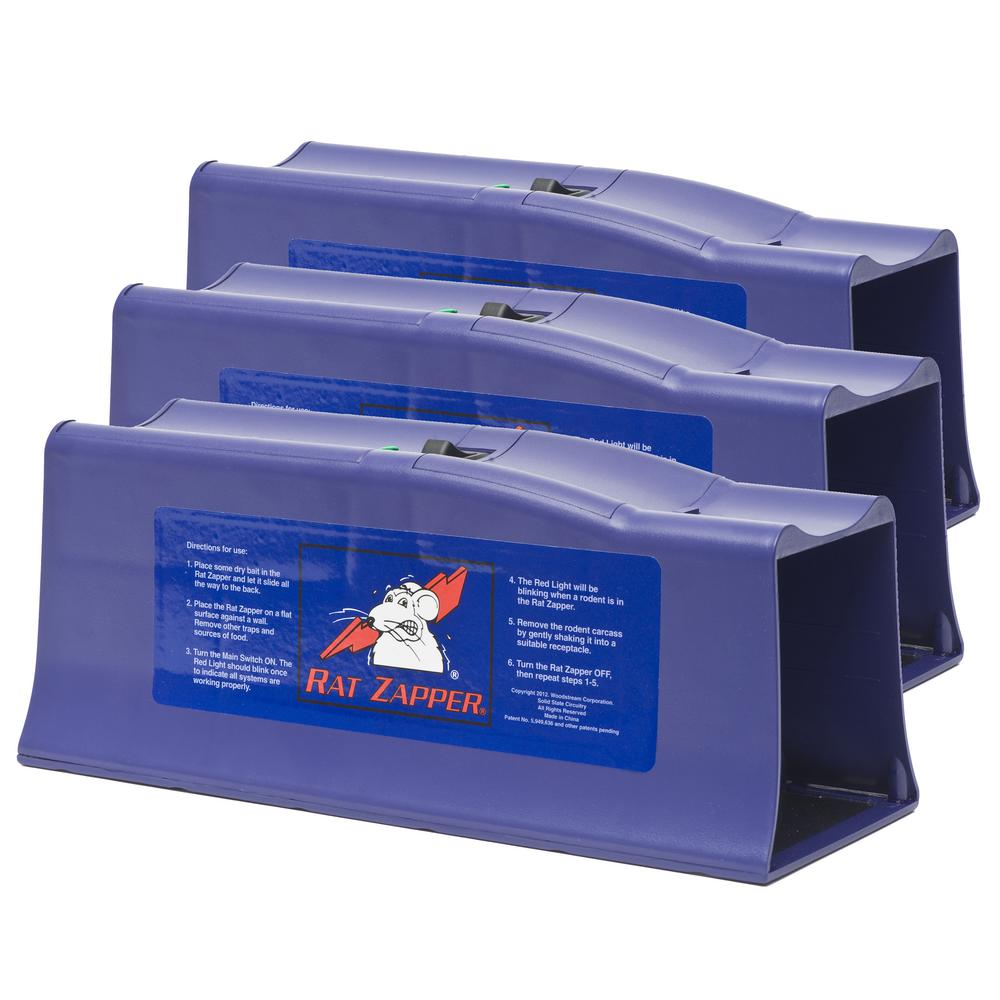 Victor Classic Electronic Rat Trap 3 Count Rzc001 3mpkit The Home Depot