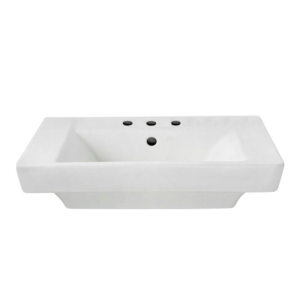 Boulevard 5 in. Pedestal Sink Basin in White