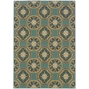Home Decorators Collection Trinidad Blue 3 Ft 7 In X 5 Ft 6 In Indoor Outdoor Area Rug