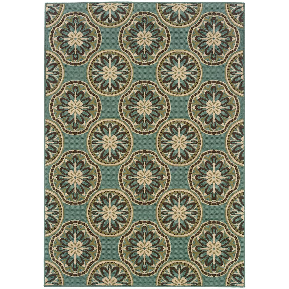 home decorators collection trinidad hampton bay border blue 7 ft 5 in x 10 ft 8 in 11475