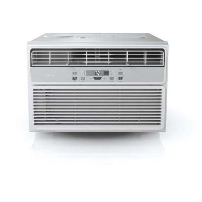 EasyCool 10,000 BTU Window Air Conditioner with FollowMe Remote Control in White/Silver