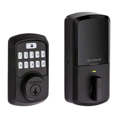 Aura Iron Black Single Cylinder Electronic Bluetooth Keypad Smart Lock Deadbolt featuring SmartKey Security
