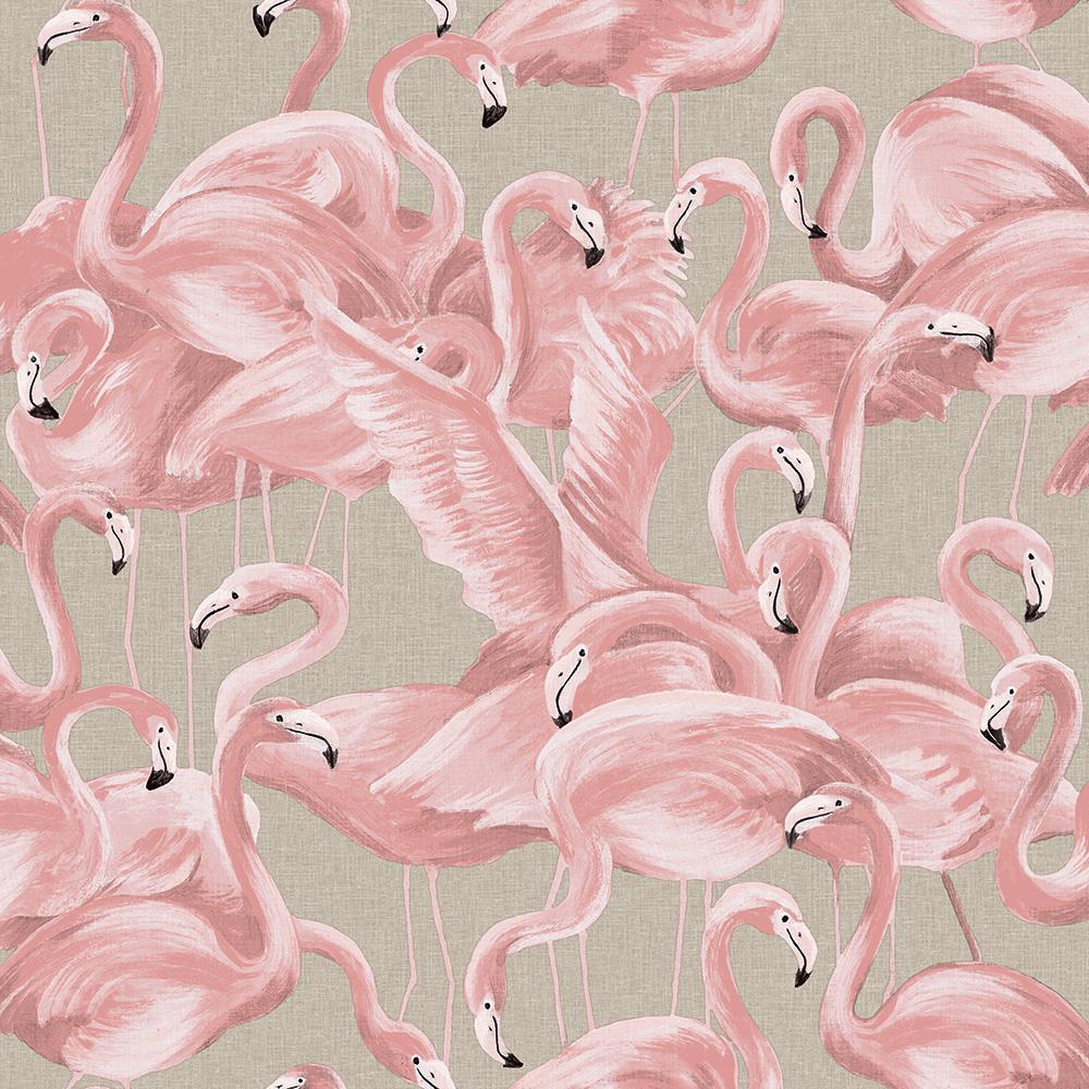 Flamingo Ballerina Pink Peel and Stick Wallpaper, 28 sq. ft.
